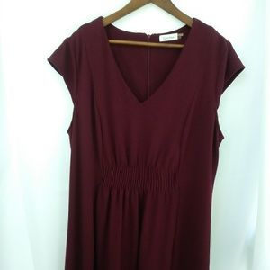 Calvin Klein Burgundy Dress GUC